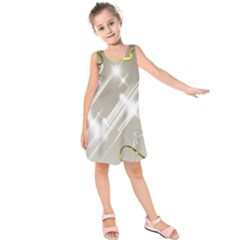 Floral Delight Kids  Sleeveless Dress