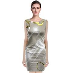 Floral Delight Sleeveless Velvet Midi Dress