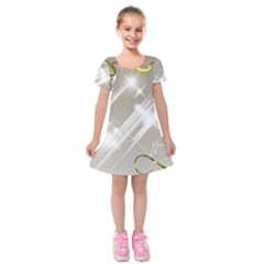 Floral Delight Kids  Short Sleeve Velvet Dress