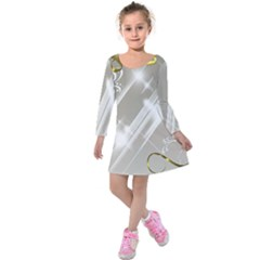 Floral Delight Kids  Long Sleeve Velvet Dress