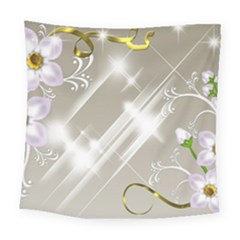 Floral Delight Square Tapestry (Large)