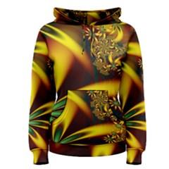Floral Design Computer Digital Art Design Illustration Women s Pullover Hoodie