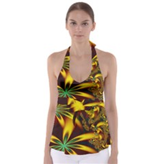 Floral Design Computer Digital Art Design Illustration Babydoll Tankini Top