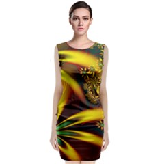 Floral Design Computer Digital Art Design Illustration Sleeveless Velvet Midi Dress