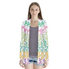 Texture Flowers Floral Seamless Cardigans