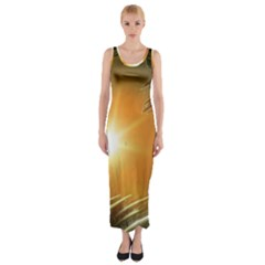 Future City Fitted Maxi Dress