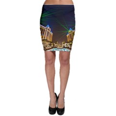 Galaxy Hotel Macau Cotai Laser Beams At Night Bodycon Skirt