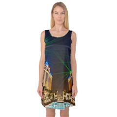 Galaxy Hotel Macau Cotai Laser Beams At Night Sleeveless Satin Nightdress