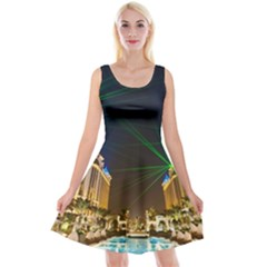 Galaxy Hotel Macau Cotai Laser Beams At Night Reversible Velvet Sleeveless Dress