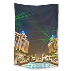 Galaxy Hotel Macau Cotai Laser Beams At Night Large Tapestry