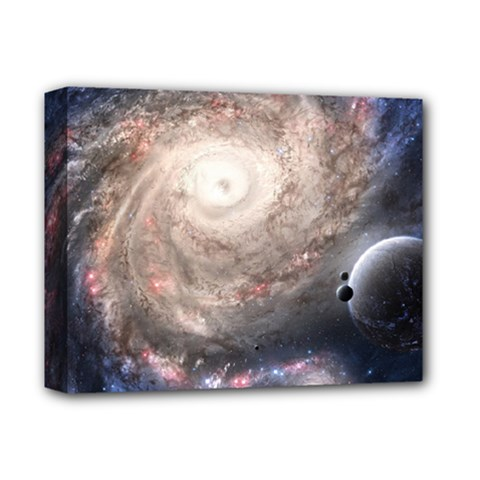Galaxy Star Planet Deluxe Canvas 14  X 11