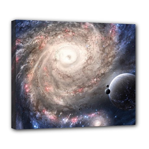 Galaxy Star Planet Deluxe Canvas 24  X 20
