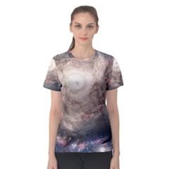Galaxy Star Planet Women s Sport Mesh Tee