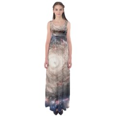 Galaxy Star Planet Empire Waist Maxi Dress