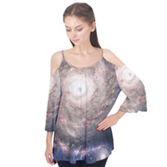 Galaxy Star Planet Flutter Tees
