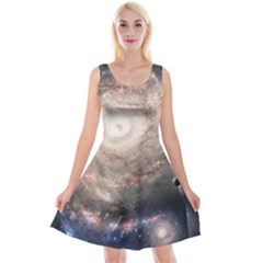 Galaxy Star Planet Reversible Velvet Sleeveless Dress