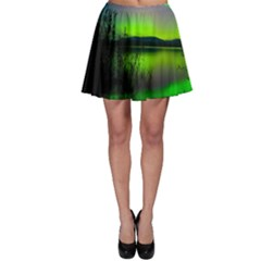 Green Northern Lights Canada Skater Skirt