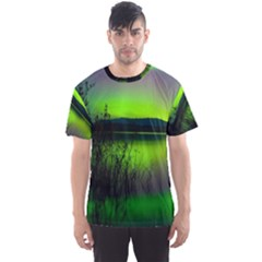 Green Northern Lights Canada Men s Sport Mesh Tee