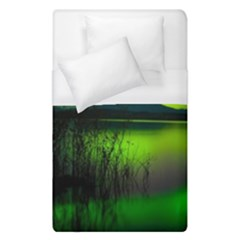 Green Northern Lights Canada Duvet Cover (single Size)