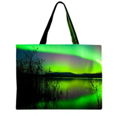 Green Northern Lights Canada Large Tote Bag