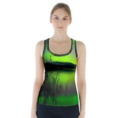 Green Northern Lights Canada Racer Back Sports Top