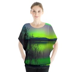 Green Northern Lights Canada Blouse