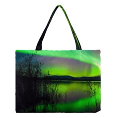 Green Northern Lights Canada Medium Tote Bag