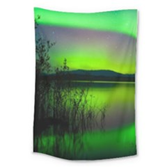 Green Northern Lights Canada Large Tapestry
