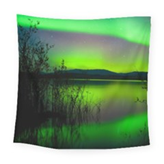 Green Northern Lights Canada Square Tapestry (Large)