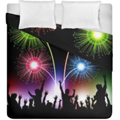 Happy New Year 2017 Celebration Animated 3d Duvet Cover Double Side (king Size)