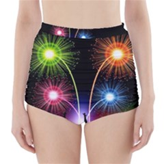 Happy New Year 2017 Celebration Animated 3d High-Waisted Bikini Bottoms