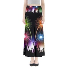 Happy New Year 2017 Celebration Animated 3d Maxi Skirts
