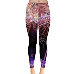 Happy New Year Clock Time Fireworks Pictures Leggings