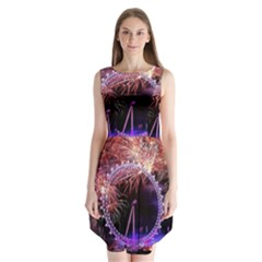 Happy New Year Clock Time Fireworks Pictures Sleeveless Chiffon Dress