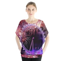 Happy New Year Clock Time Fireworks Pictures Blouse