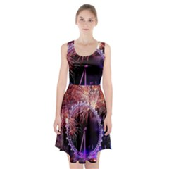 Happy New Year Clock Time Fireworks Pictures Racerback Midi Dress