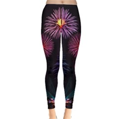 Happy New Year New Years Eve Fireworks In Australia Leggings