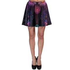 Happy New Year New Years Eve Fireworks In Australia Skater Skirt