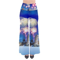 Happy New Year Celebration Of The New Year Landmarks Of The Most Famous Cities Around The World Fire Pants
