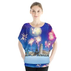 Happy New Year Celebration Of The New Year Landmarks Of The Most Famous Cities Around The World Fire Blouse