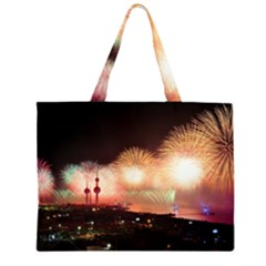 Kuwait Liberation Day National Day Fireworks Large Tote Bag