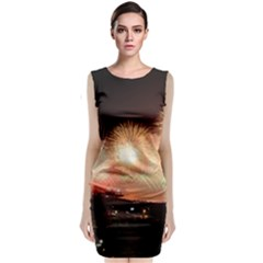 Kuwait Liberation Day National Day Fireworks Sleeveless Velvet Midi Dress