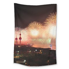Kuwait Liberation Day National Day Fireworks Large Tapestry