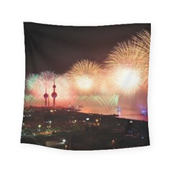 Kuwait Liberation Day National Day Fireworks Square Tapestry (small)