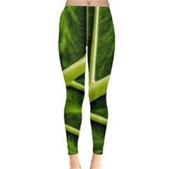 Leaf Dark Green Leggings
