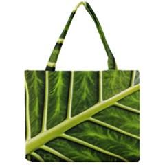 Leaf Dark Green Mini Tote Bag