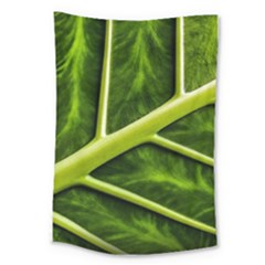 Leaf Dark Green Large Tapestry