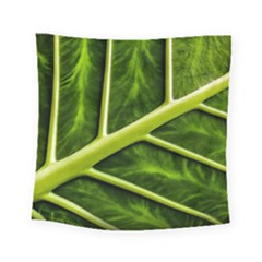 Leaf Dark Green Square Tapestry (Small)