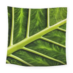 Leaf Dark Green Square Tapestry (Large)
