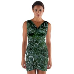 Morning Dew Wrap Front Bodycon Dress